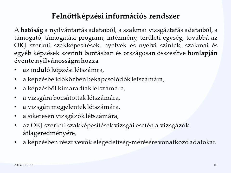 Felnőttképzési információs rendszer