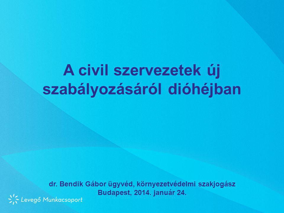 A civil szervezetek új szabályozásáról dióhéjban