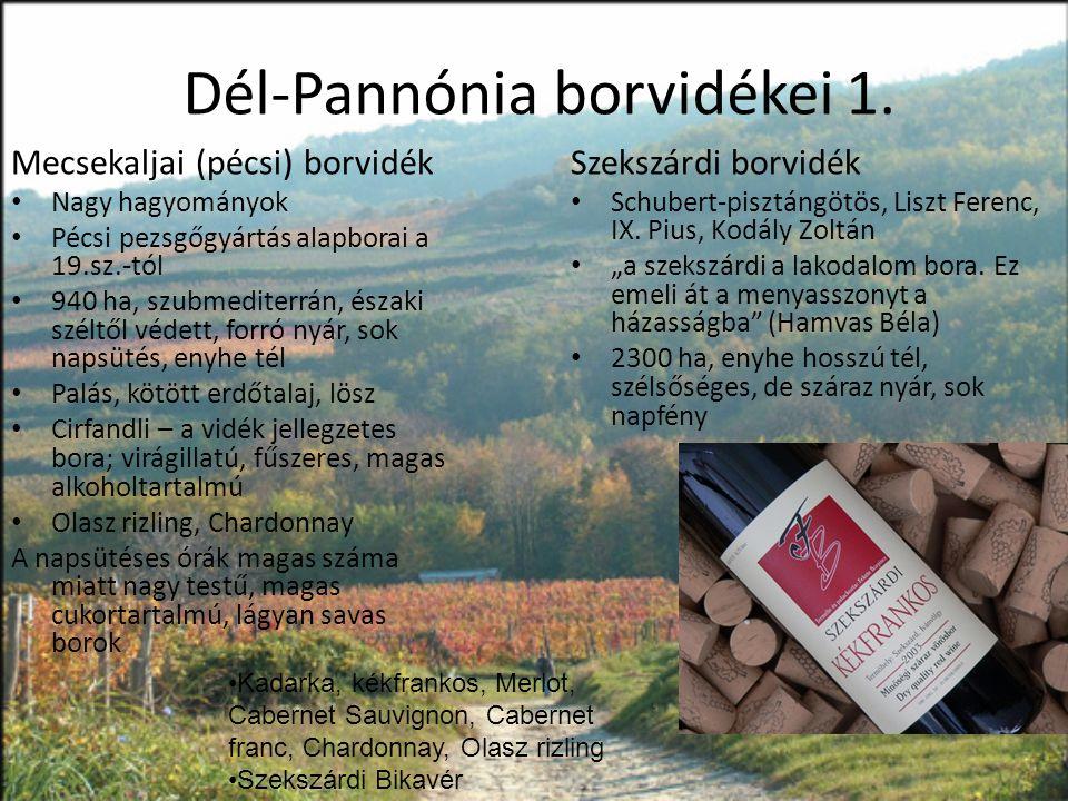 Dél-Pannónia borvidékei 1.