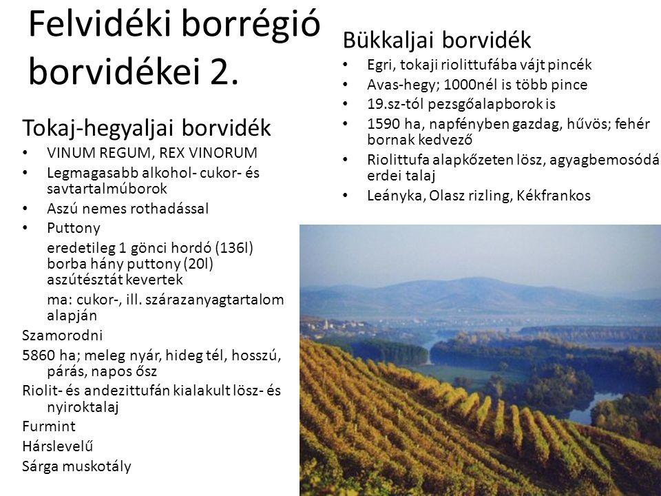 Felvidéki borrégió borvidékei 2.