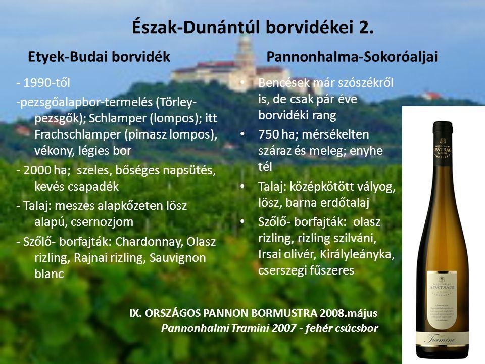 Észak-Dunántúl borvidékei 2.