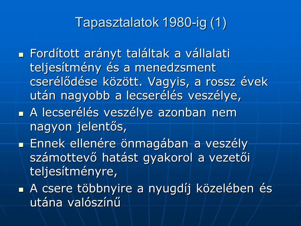 Tapasztalatok 1980-ig (1)