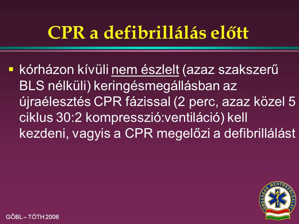 CPR a defibrillálás előtt