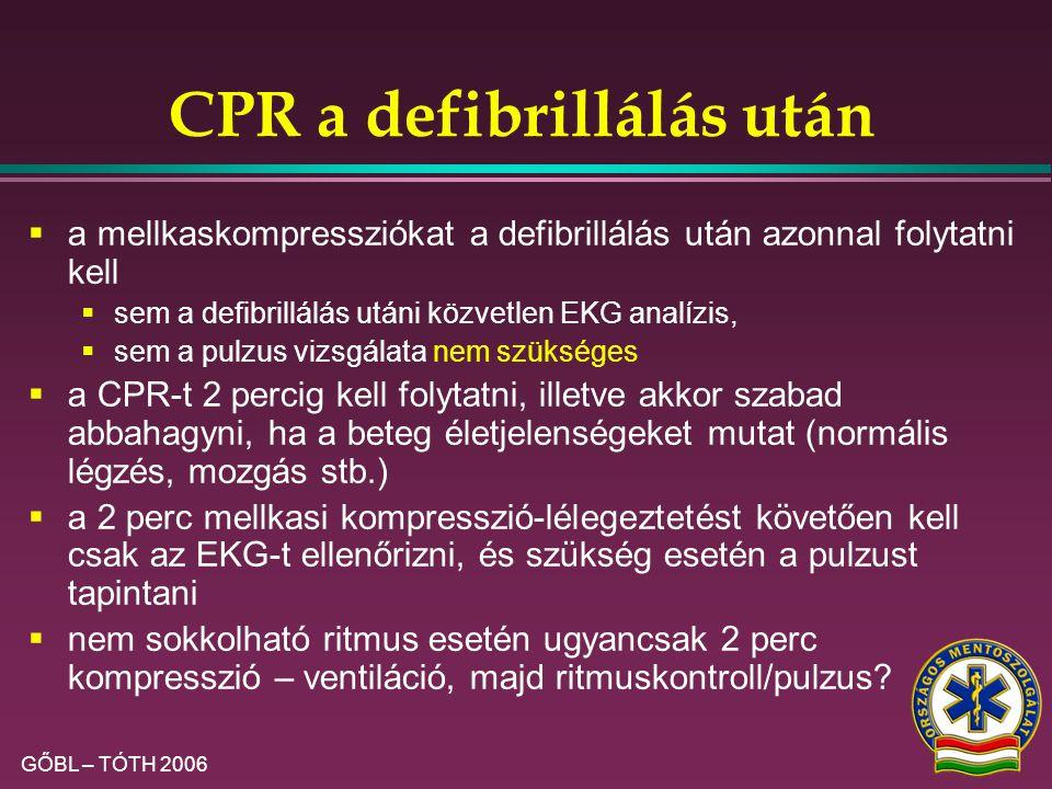 CPR a defibrillálás után