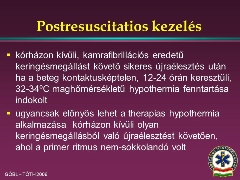 Postresuscitatios kezelés