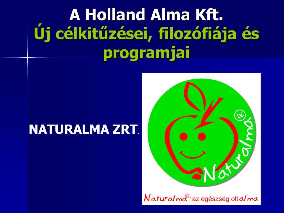 A Holland Alma Kft. Új célkitűzései, filozófiája és programjai