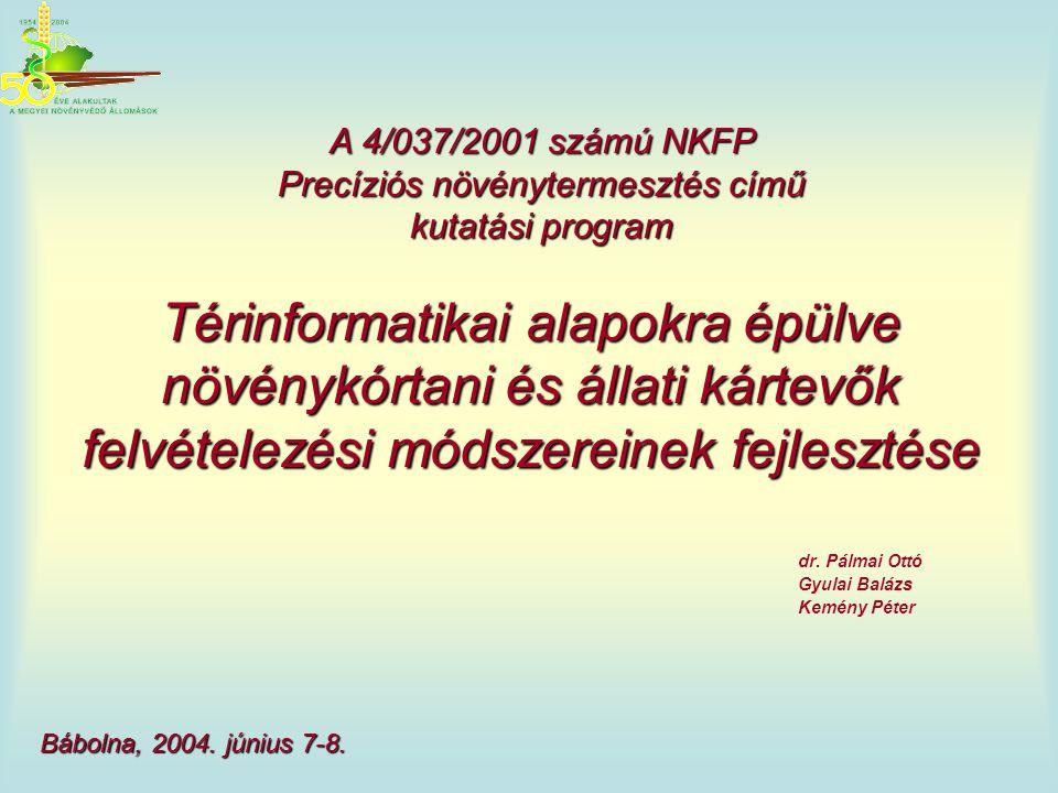 A 4/037/2001 számú NKFP Precíziós növénytermesztés című kutatási program