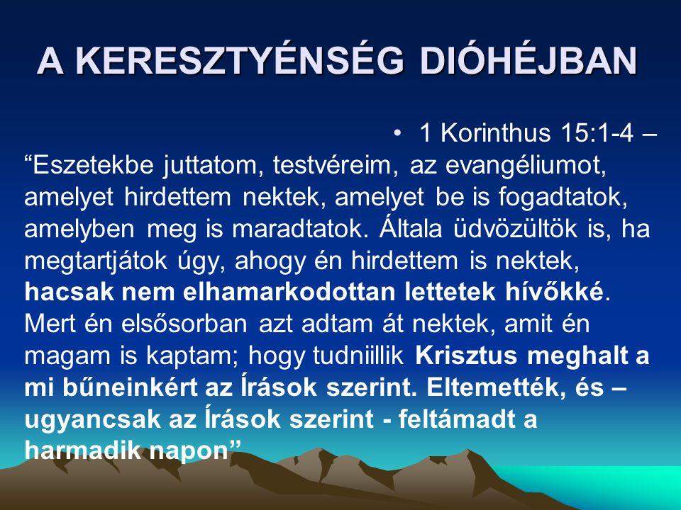 A KERESZTYÉNSÉG DIÓHÉJBAN