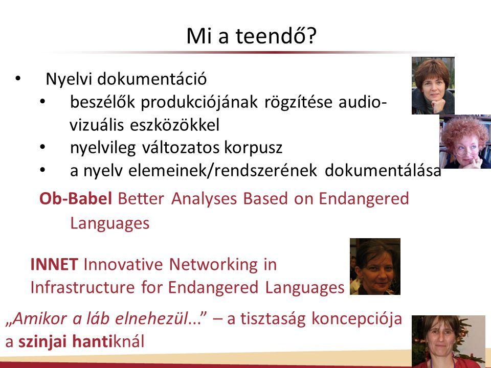 Mi a teendő Nyelvi dokumentáció