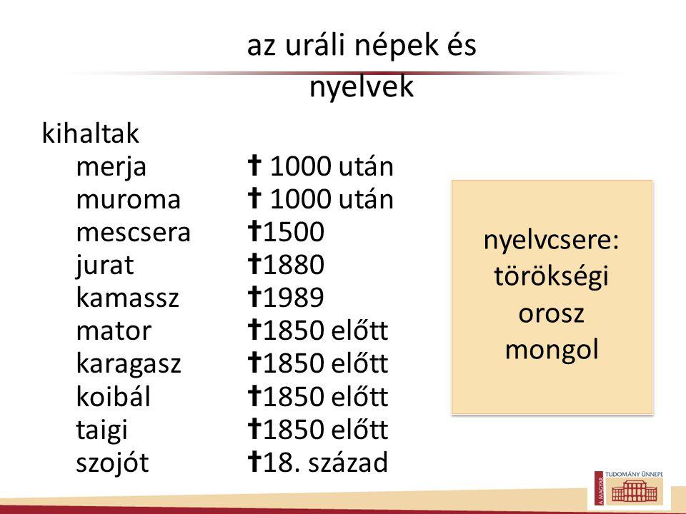 az uráli népek és nyelvek