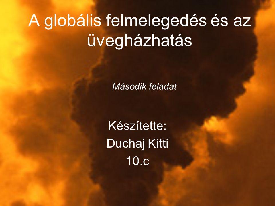 A globális felmelegedés és az üvegházhatás