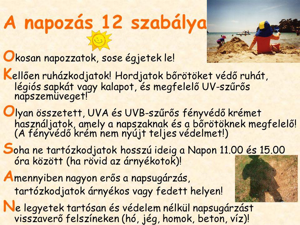 A napozás 12 szabálya Okosan napozzatok, sose égjetek le!