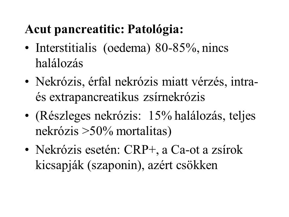 Acut pancreatitic: Patológia: