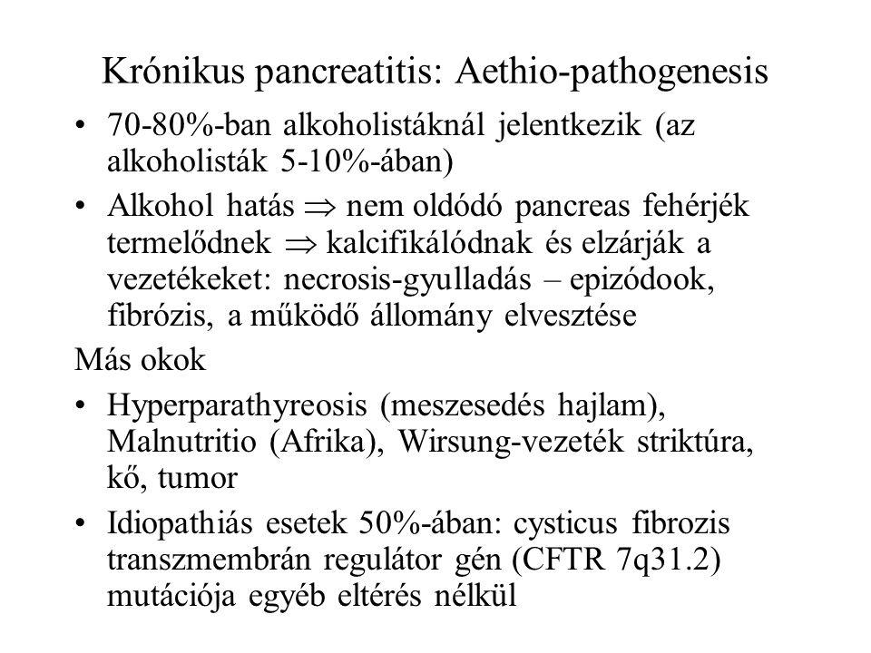 Krónikus pancreatitis: Aethio-pathogenesis