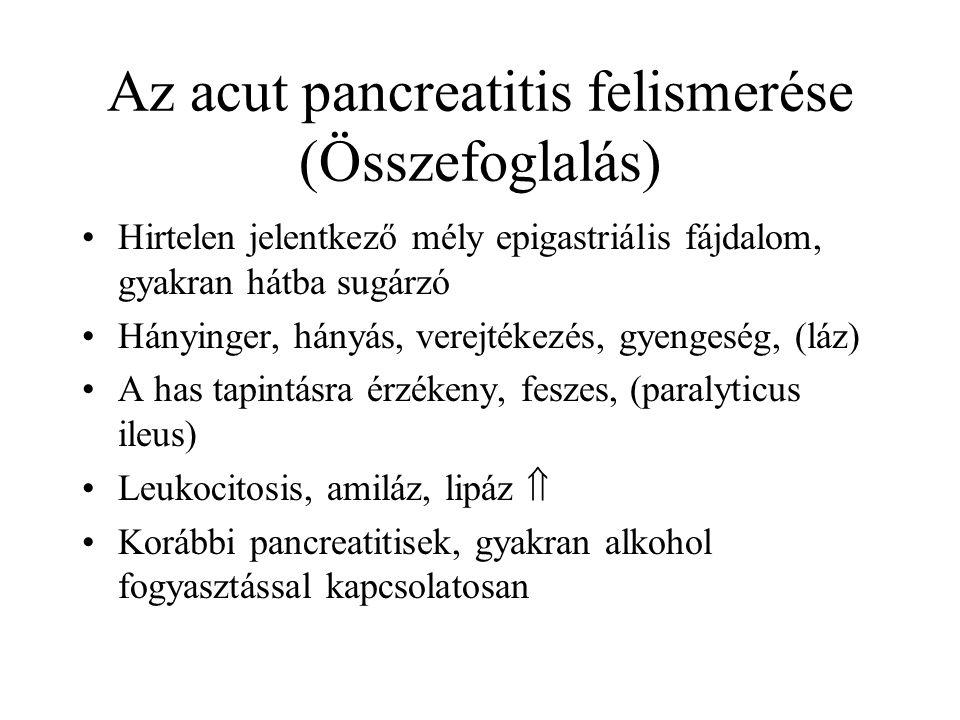 Az acut pancreatitis felismerése (Összefoglalás)