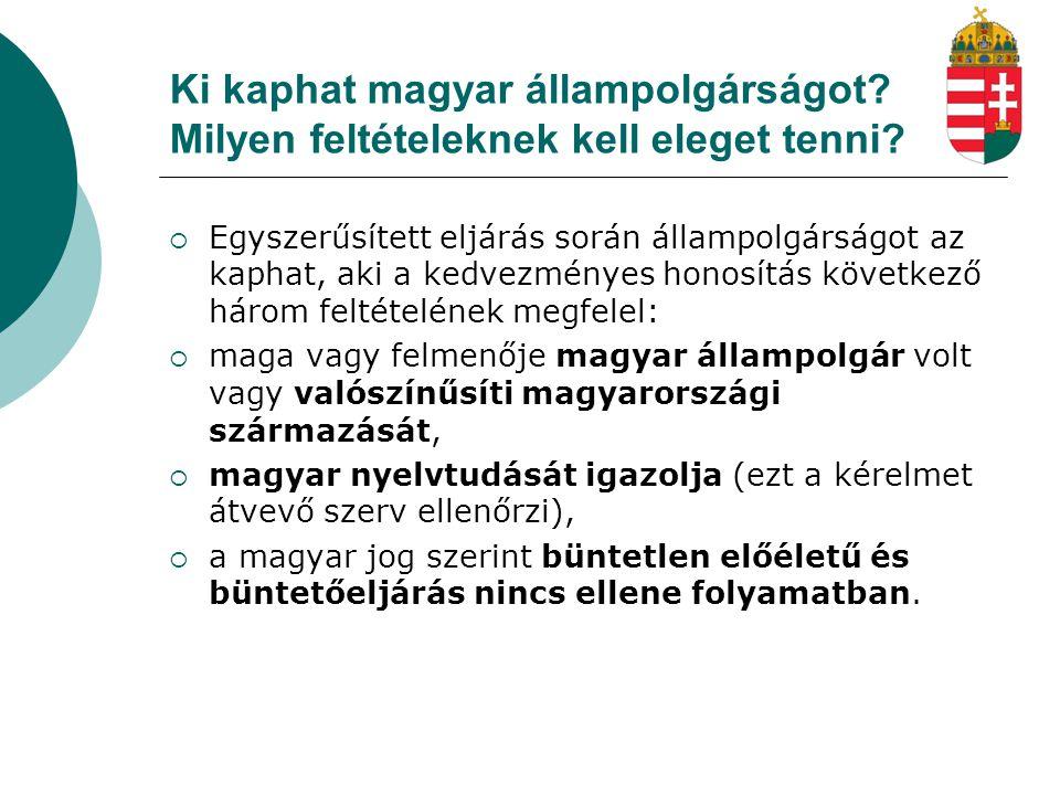Ki kaphat magyar állampolgárságot