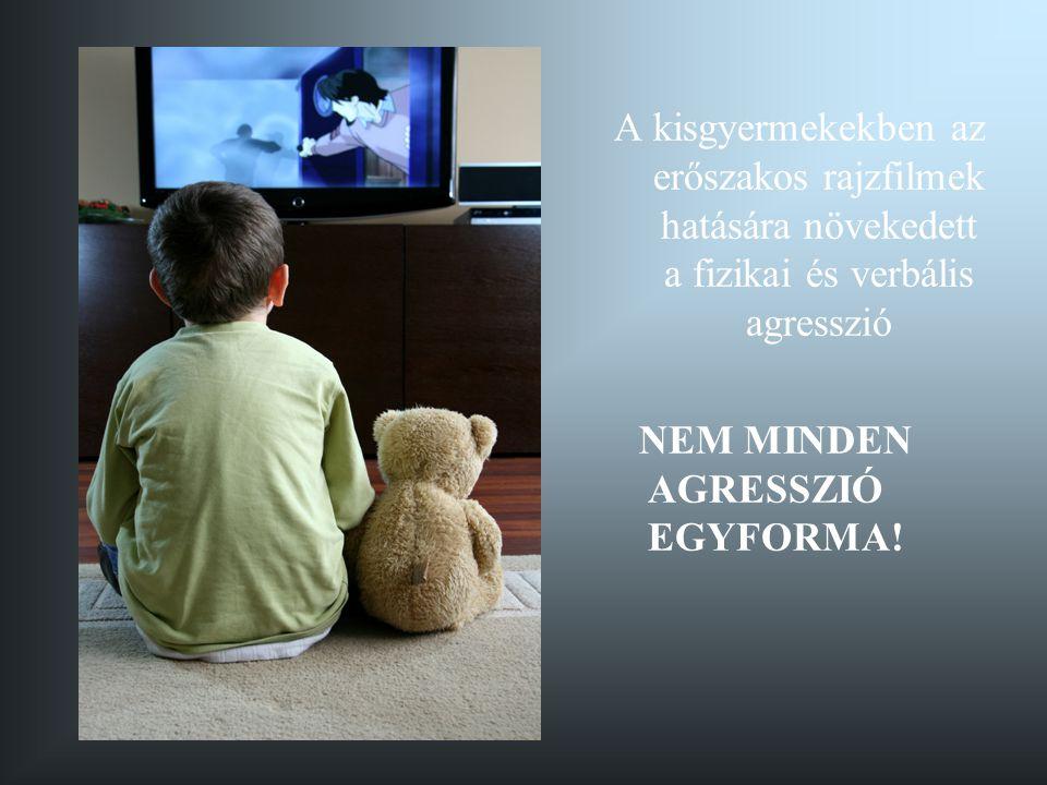 A kisgyermekekben az erőszakos rajzfilmek hatására növekedett a fizikai és verbális agresszió