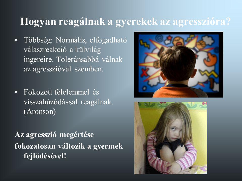 Hogyan reagálnak a gyerekek az agresszióra