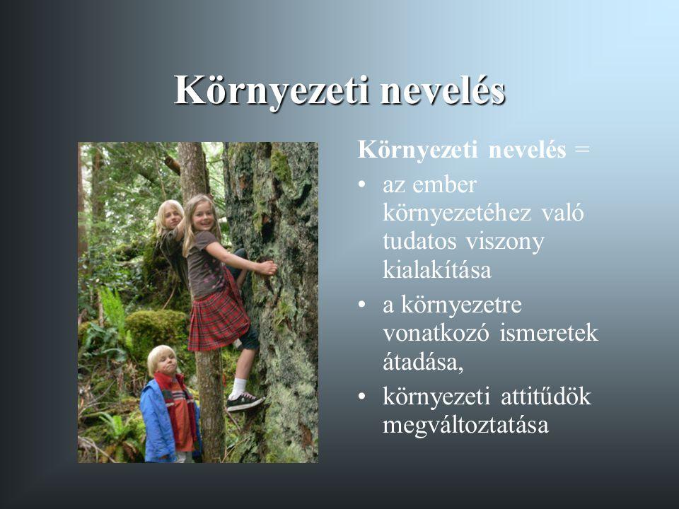 Környezeti nevelés Környezeti nevelés =