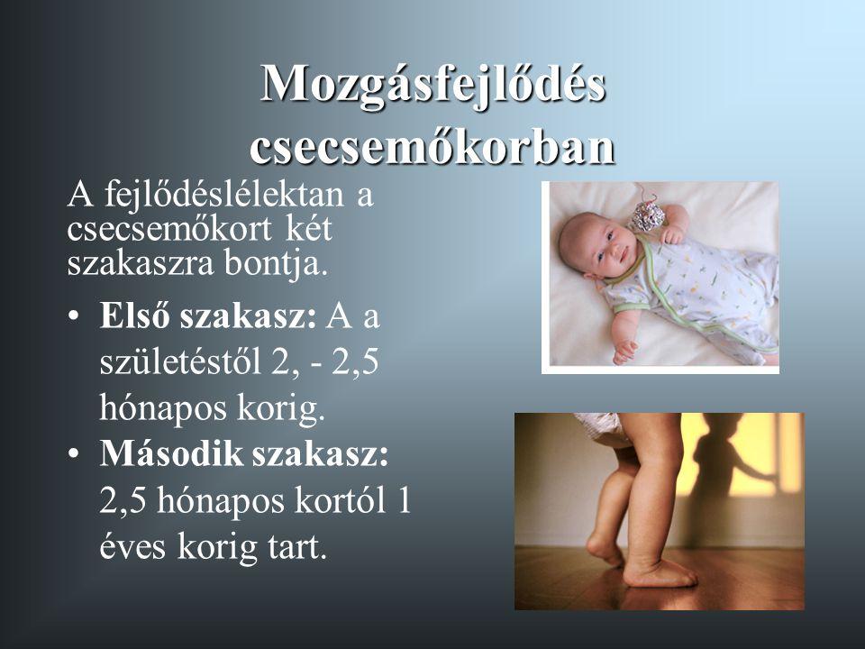 Mozgásfejlődés csecsemőkorban