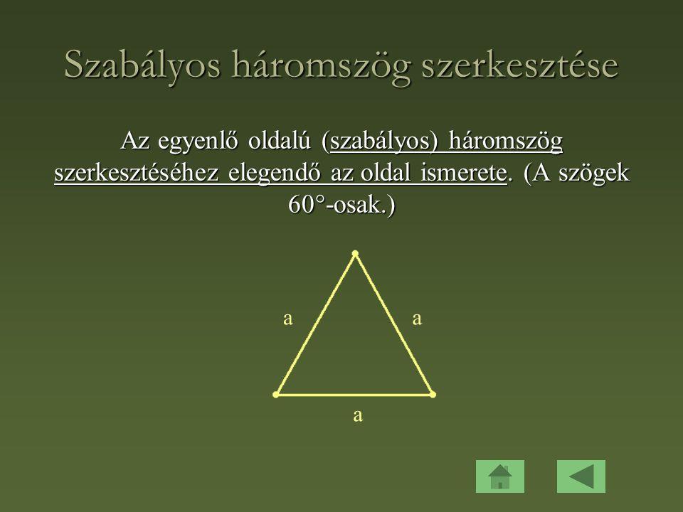 Szabályos háromszög szerkesztése