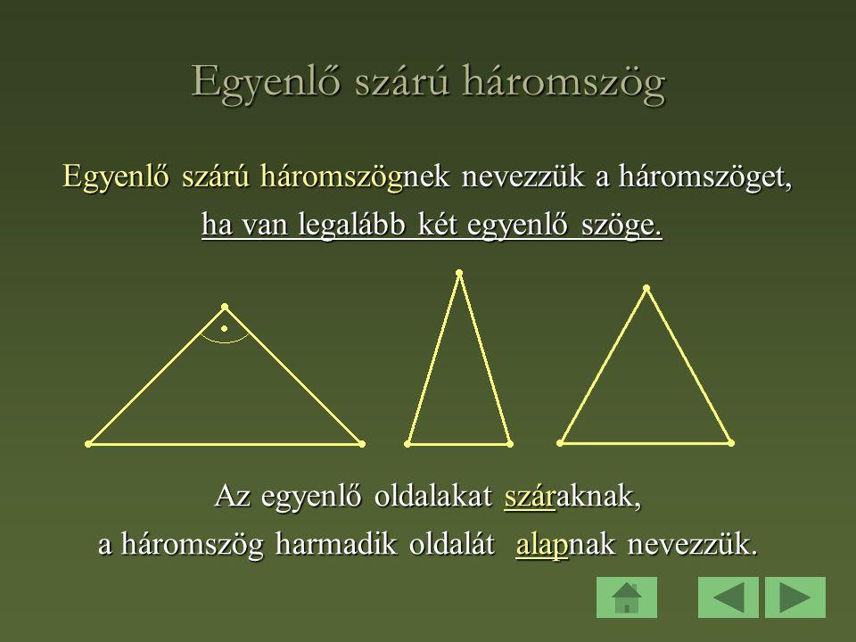 Egyenlő szárú háromszög