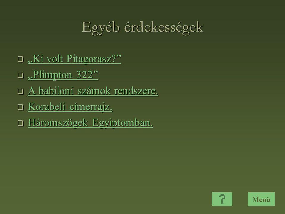 """Egyéb érdekességek """"Ki volt Pitagorasz """"Plimpton 322"""