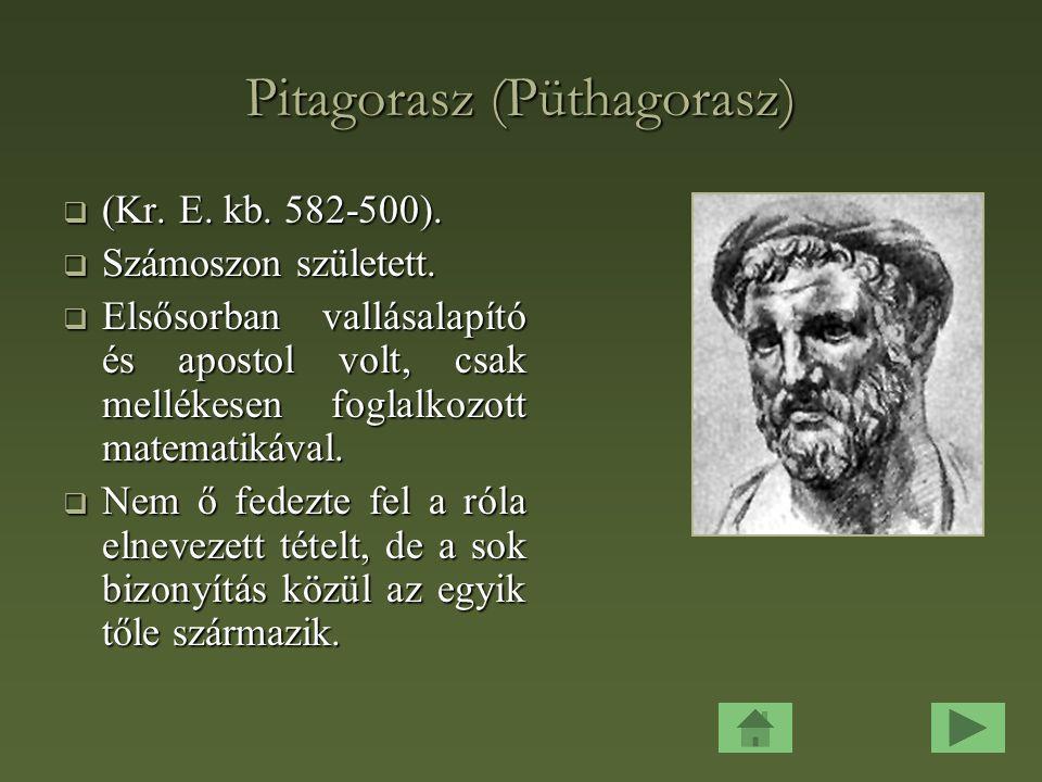 Pitagorasz (Püthagorasz)