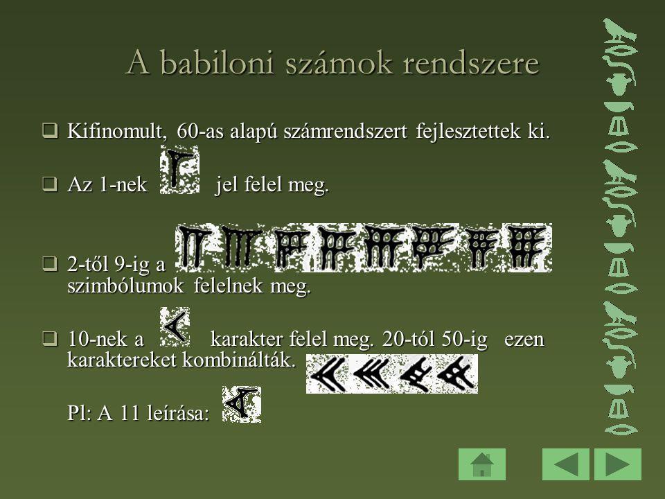 A babiloni számok rendszere