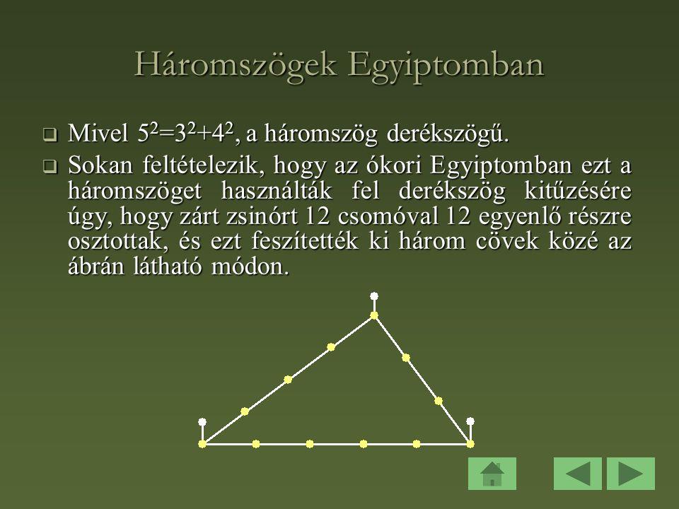 Háromszögek Egyiptomban