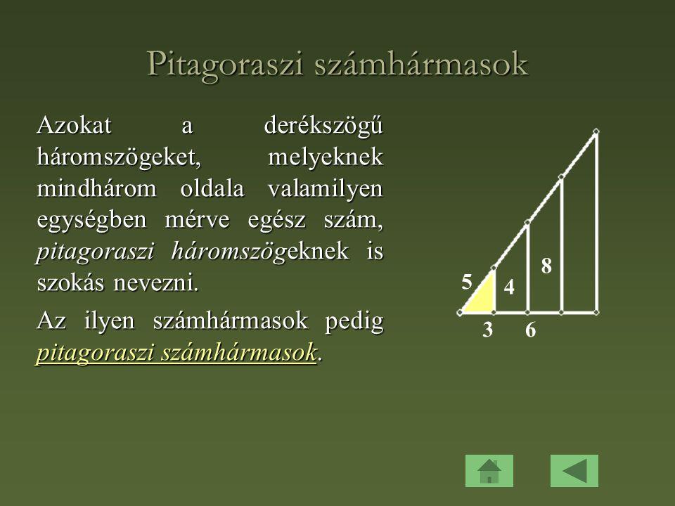 Pitagoraszi számhármasok