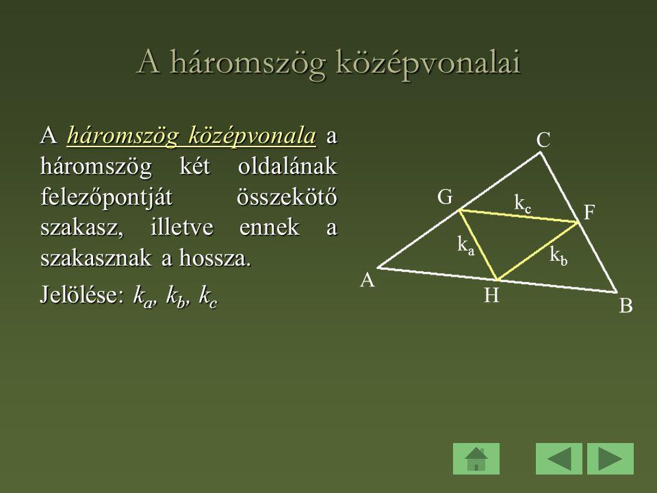 A háromszög középvonalai