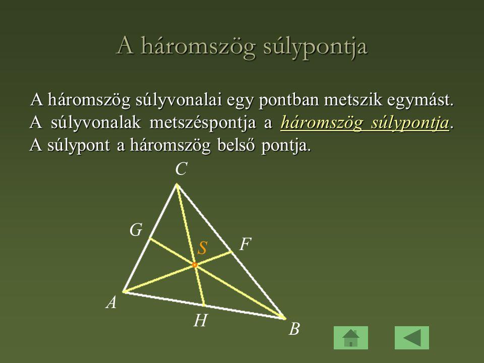 A háromszög súlypontja