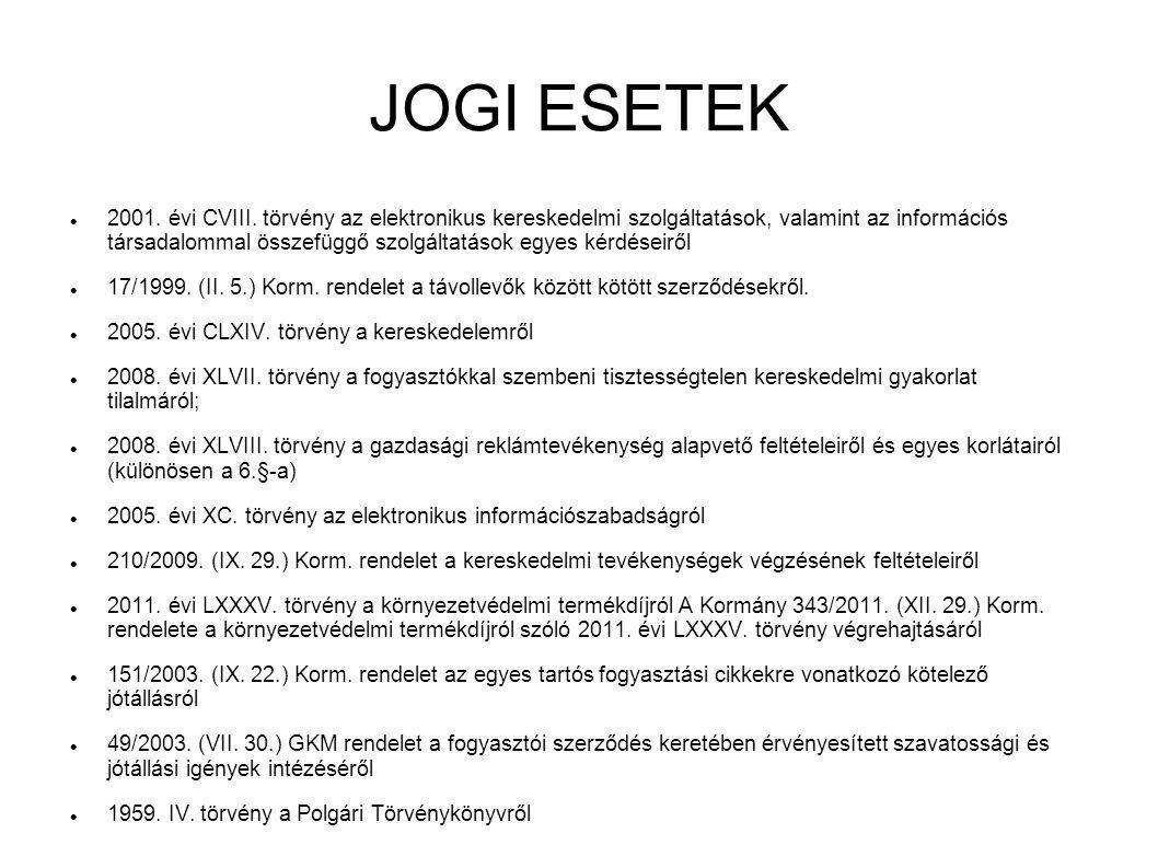 JOGI ESETEK