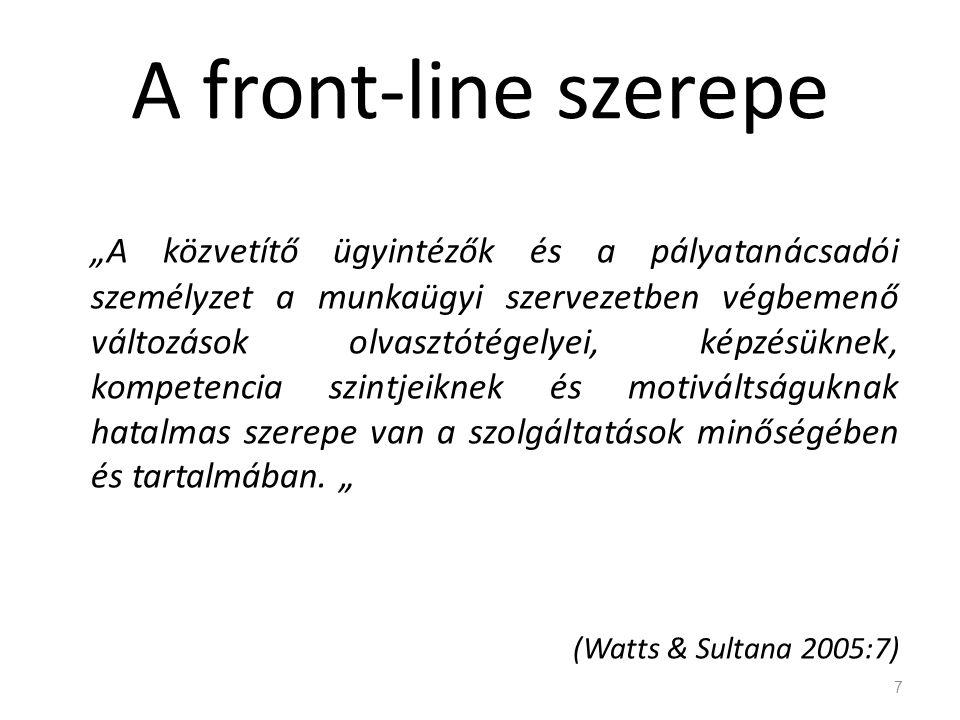 A front-line szerepe