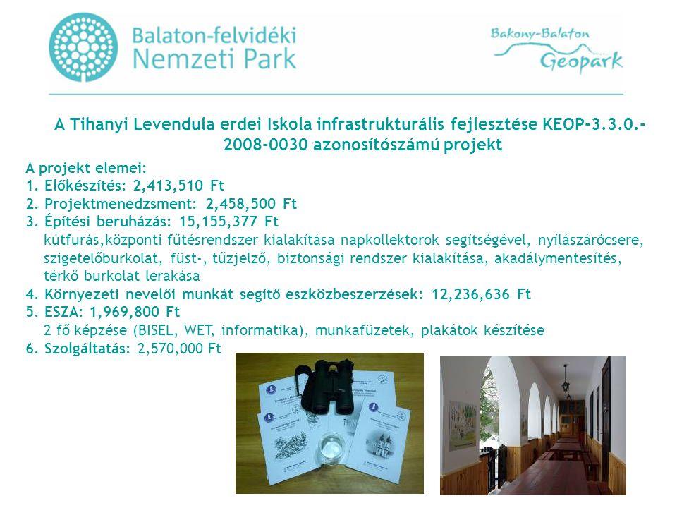 A Tihanyi Levendula erdei Iskola infrastrukturális fejlesztése KEOP-3