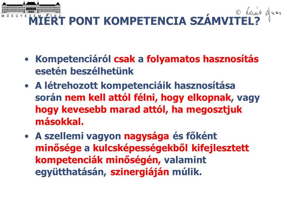 MIÉRT PONT KOMPETENCIA SZÁMVITEL