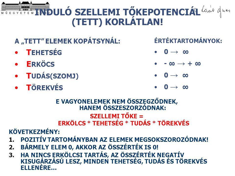 INDULÓ SZELLEMI TŐKEPOTENCIÁL (TETT) KORLÁTLAN!