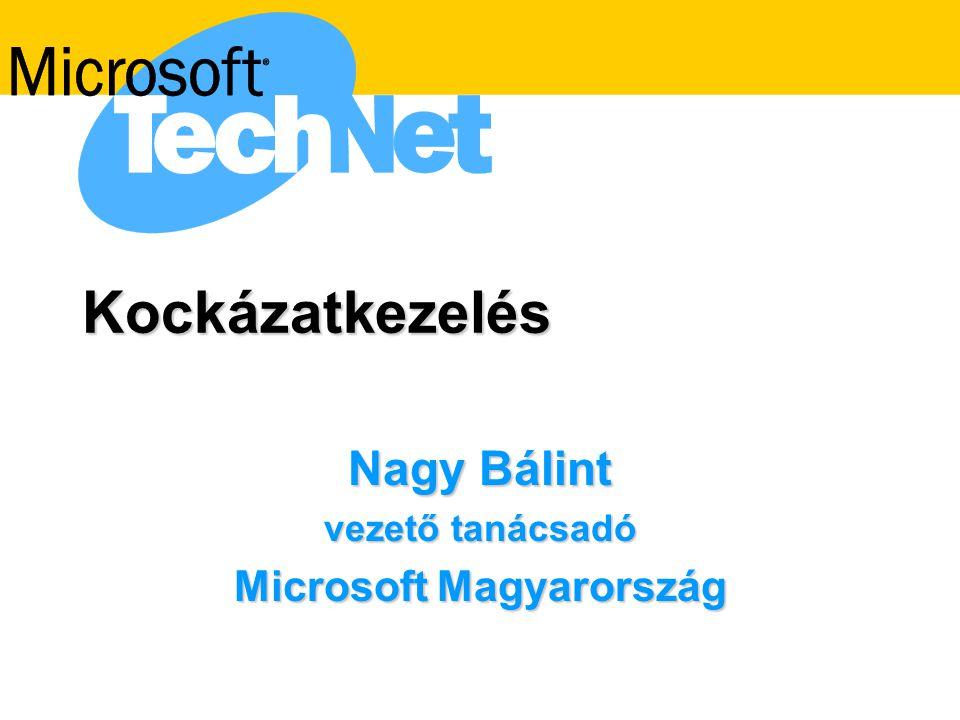 Nagy Bálint vezető tanácsadó Microsoft Magyarország