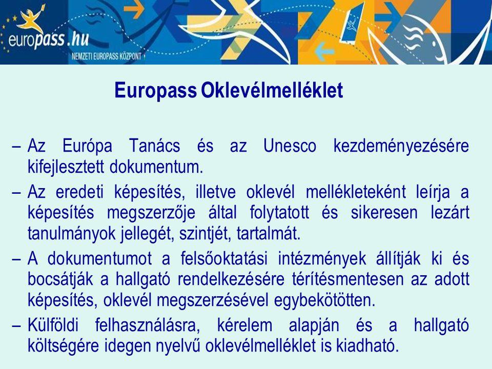 Europass Oklevélmelléklet
