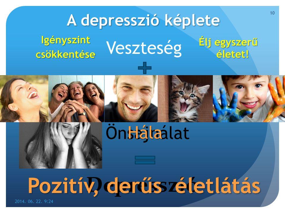 Pozitív, derűs életlátás Depresszió