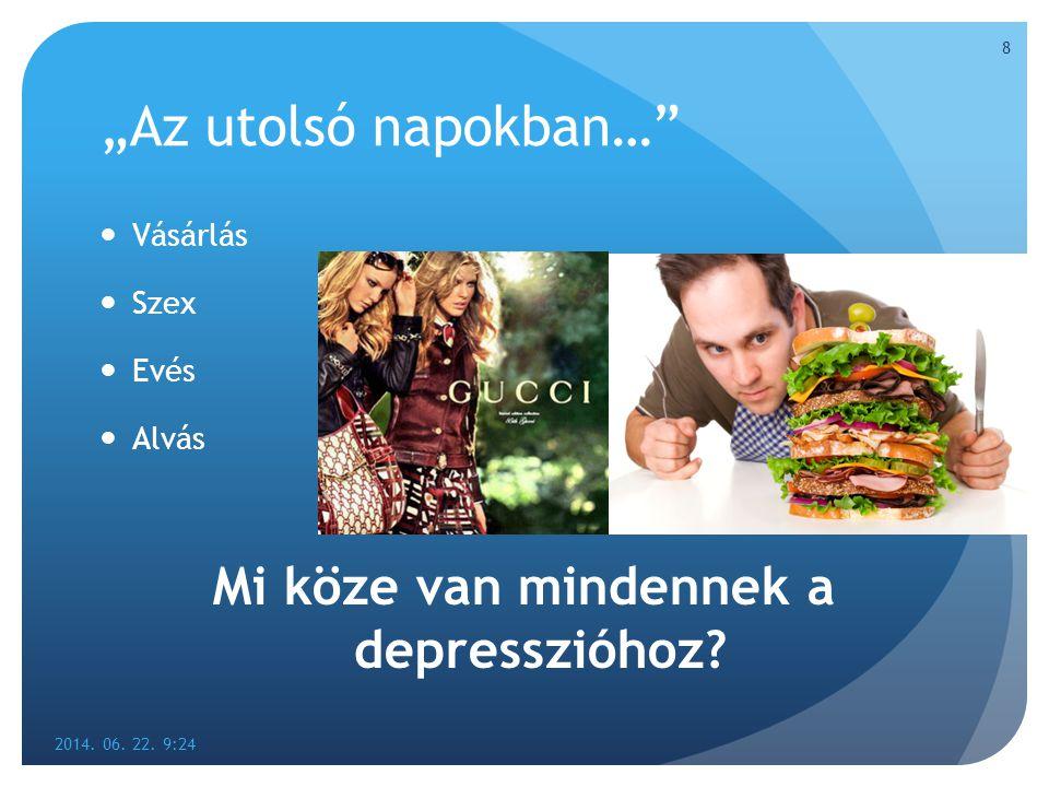 Mi köze van mindennek a depresszióhoz
