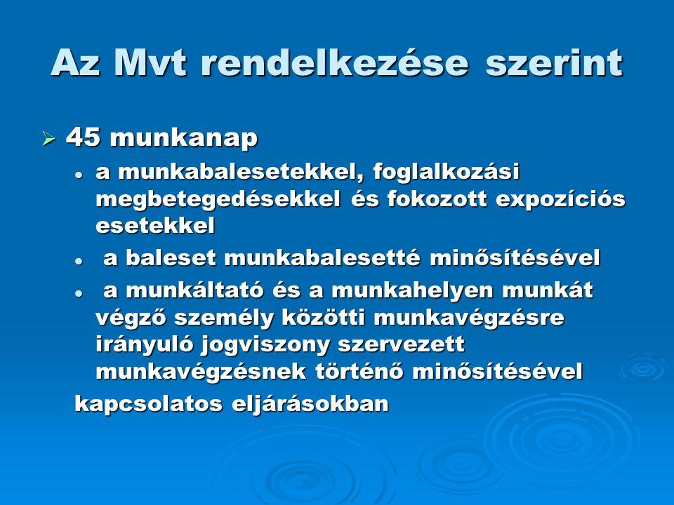 Az Mvt rendelkezése szerint