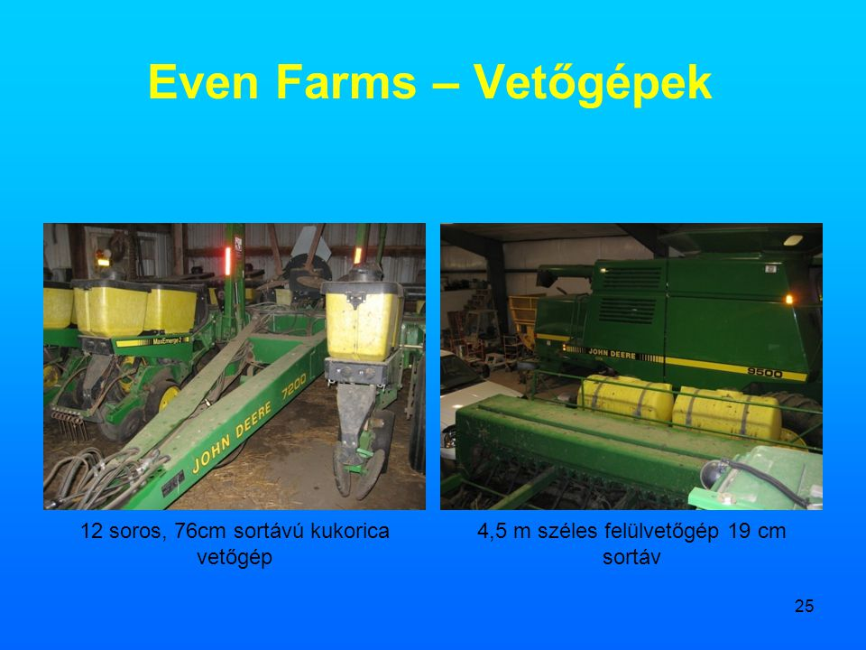 Even Farms – Vetőgépek 12 soros, 76cm sortávú kukorica vetőgép