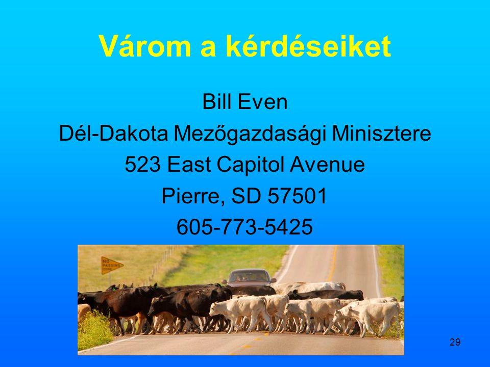 Dél-Dakota Mezőgazdasági Minisztere