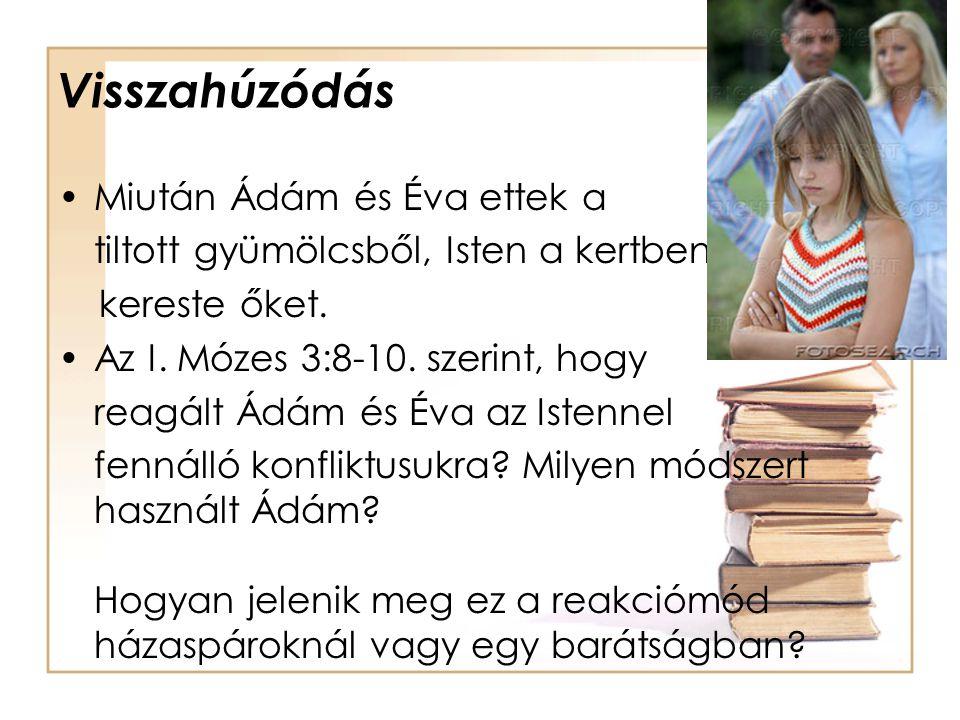 Visszahúzódás Miután Ádám és Éva ettek a