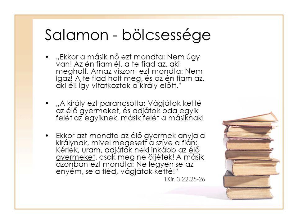 Salamon - bölcsessége