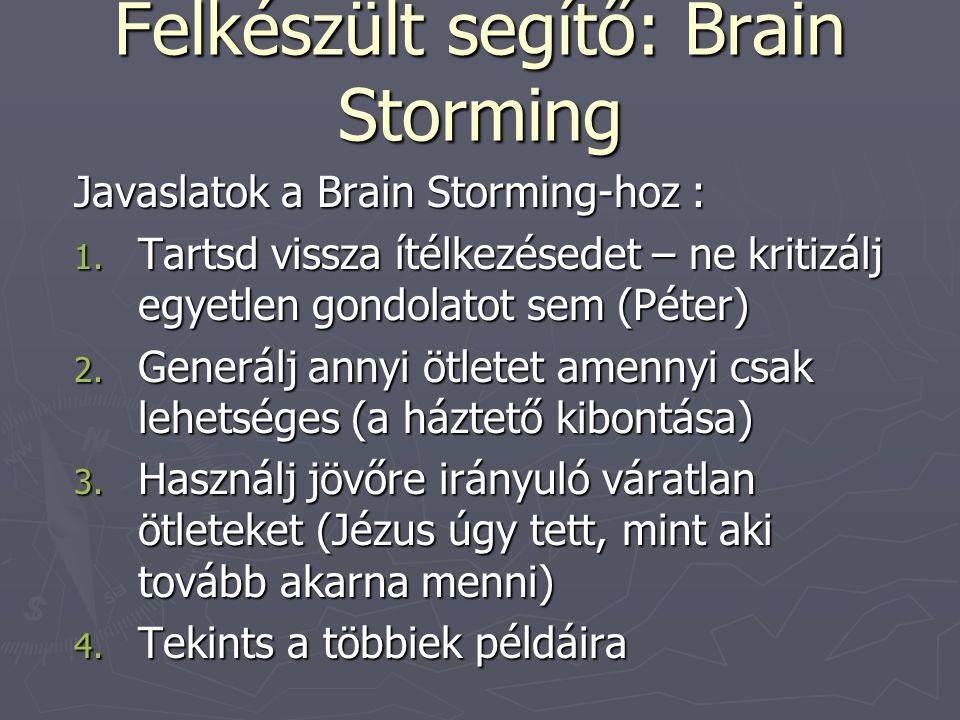 Felkészült segítő: Brain Storming