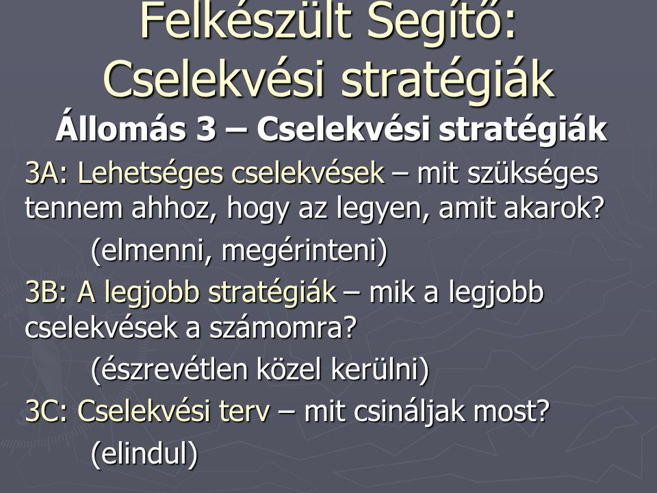 Felkészült Segítő: Cselekvési stratégiák