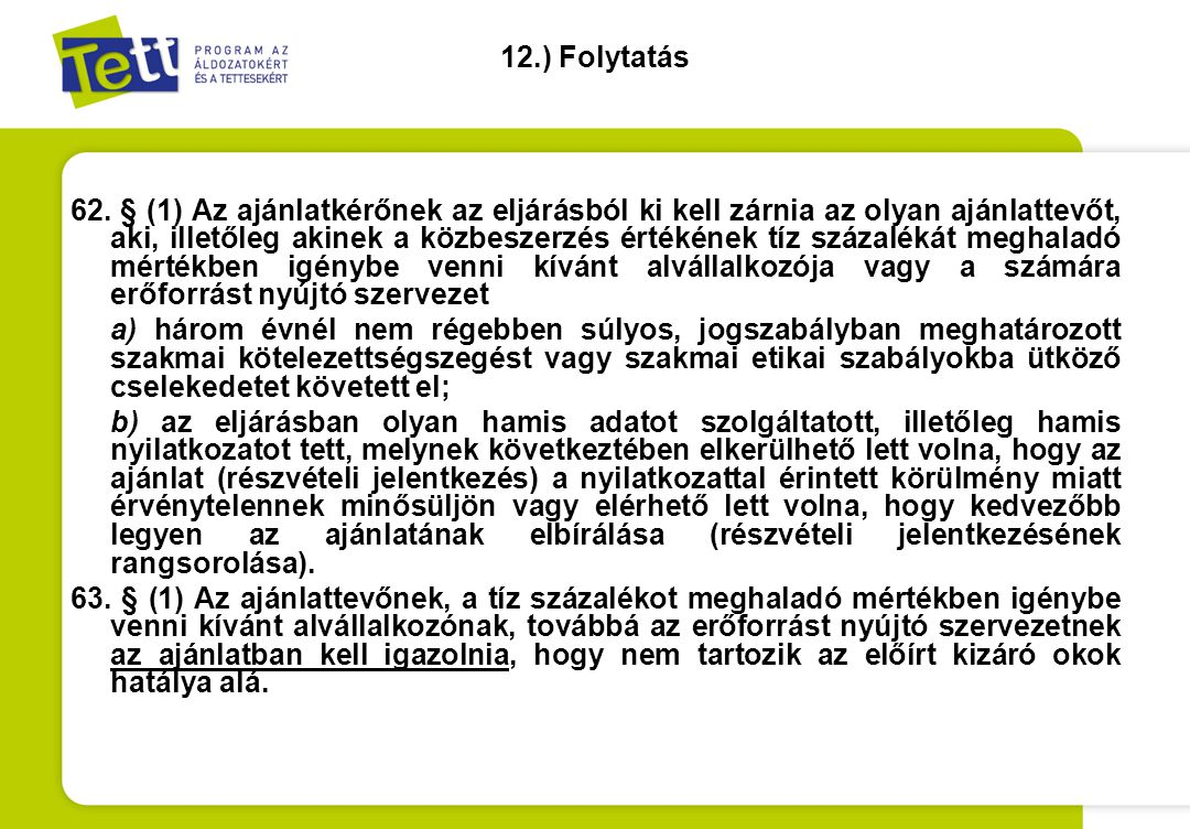12.) Folytatás